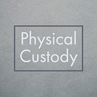 Square gray box with text physical custody in center